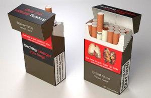 Birleşik Krallık'taki sigara paketleri için maket