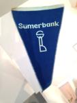 Sümerbank logolu masa bayrağı