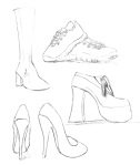 Ayakkabı eskizleri